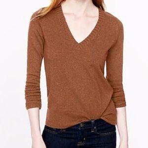J. Crew Dream V-Neck Sweater Wool Cashmere 16799